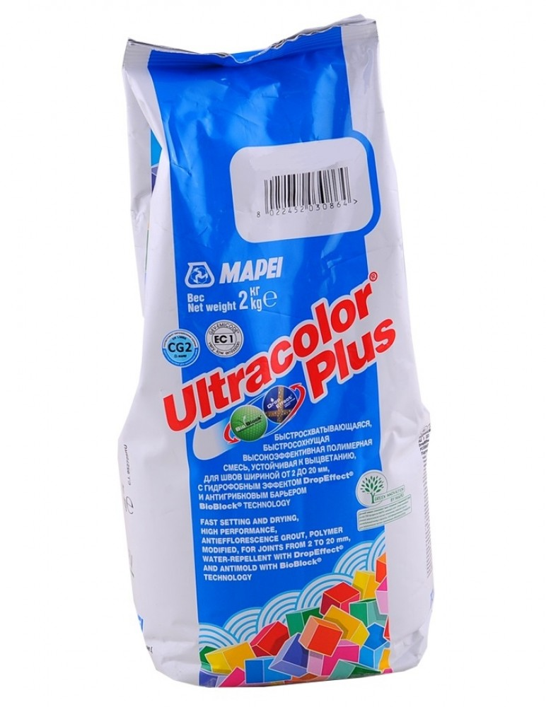 Затирка Mapei Ultracolor Plus / Мапеи Ультраколор Плюс 131 ваниль (2 кг)