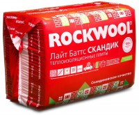 Утеплитель ROCKWOOL LIGHT BATTS SCANDIC / РОКВУЛ ЛАЙТ БАТТС СКАНДИК (800х600х50 мм / 12 шт / 5.76 м2 / 0.288 м3)